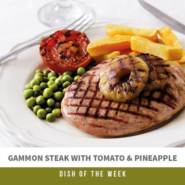 Gammon Steak with Tomato & Pineapple